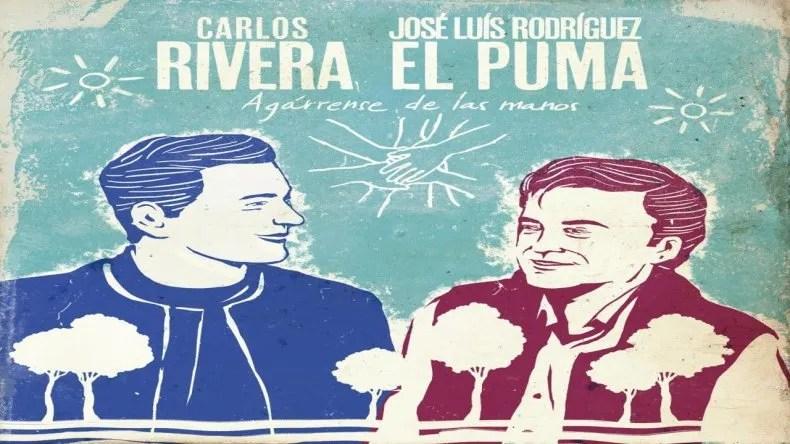 Carlos Rivera canta Agárrense de las manos junto a El Puma