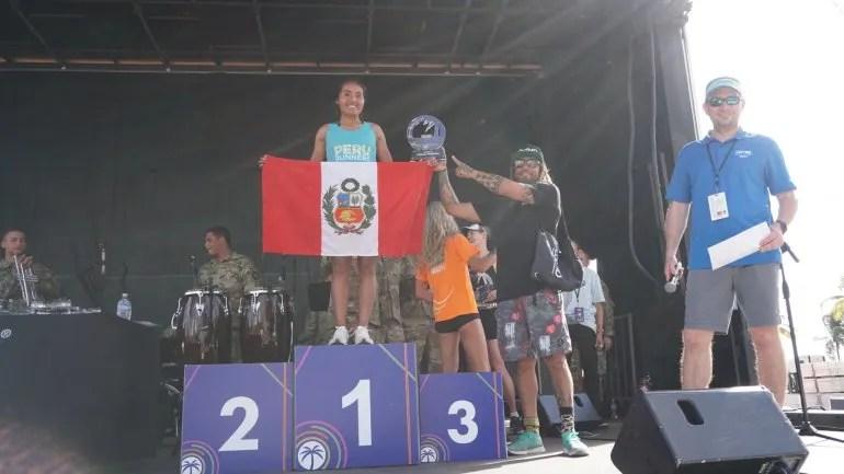 Inés Melchor ganó el Maratón de Miami 2019, la última edición de esta carrera antes de que se desatara la pandemia