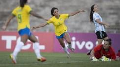 La Selección argentina femenina fue goleada por Brasil