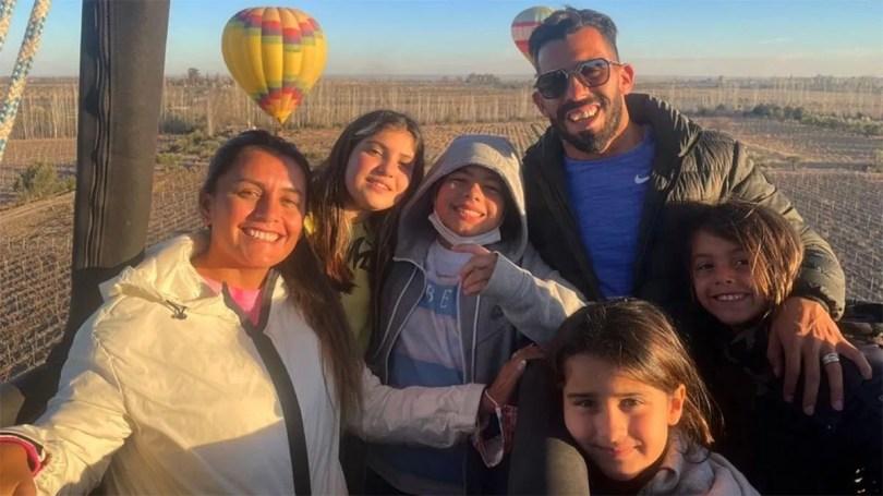 Tevez y su familia siguen disfrutando de sus vacaciones en Mendoza
