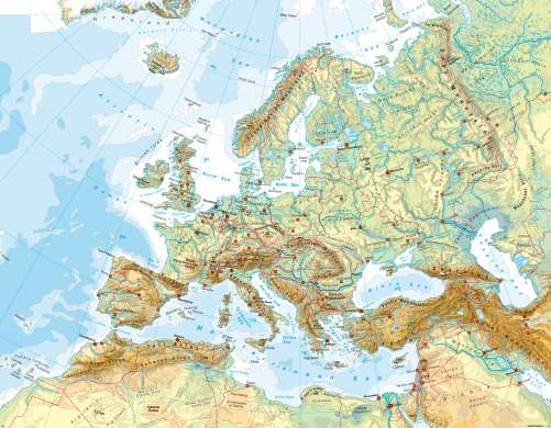 Maps   Europe   Physical map   Diercke International Atlas Diercke Karte Europe   Physical map