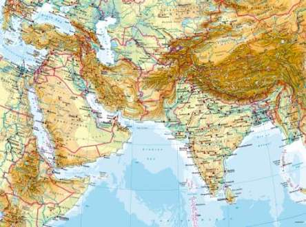 Maps   West and South Asia     Physical map   Diercke International Atlas Diercke Karte West and South Asia     Physical map