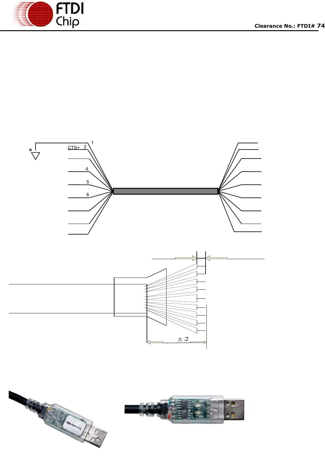 Usb To Rs422 Cable Datasheet