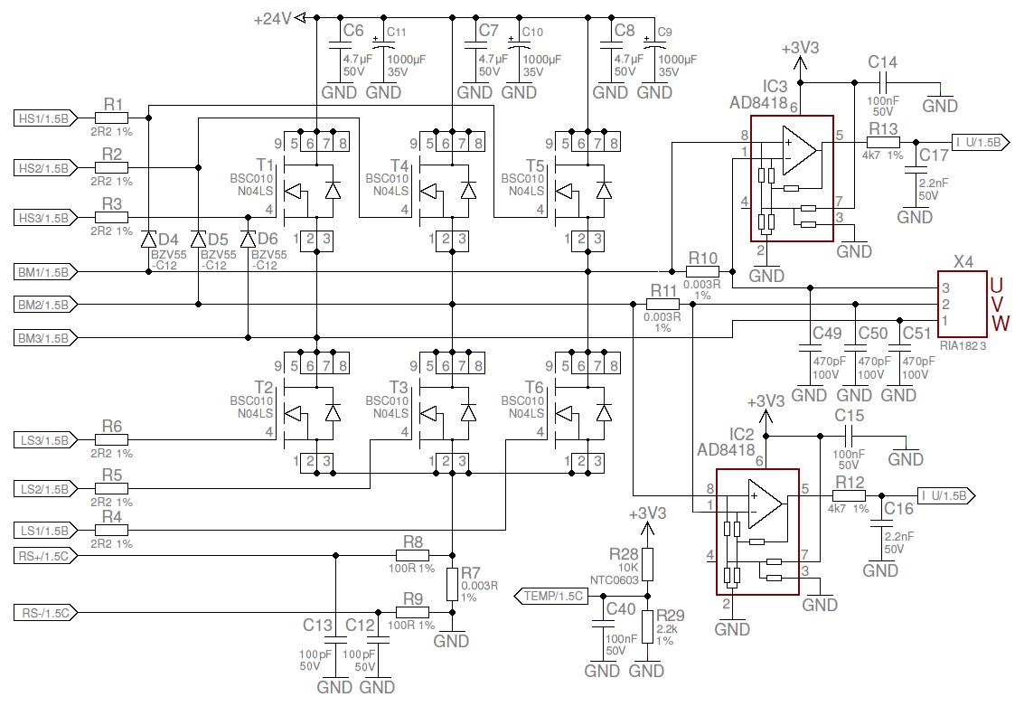 Tmcc160 Eval 10a 6 24v 3 Ph Bldc Pmsm