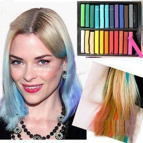 dinomarket pasardino hair chalk 24 warna crayon pewarna rambut hightlight sementara mudah b