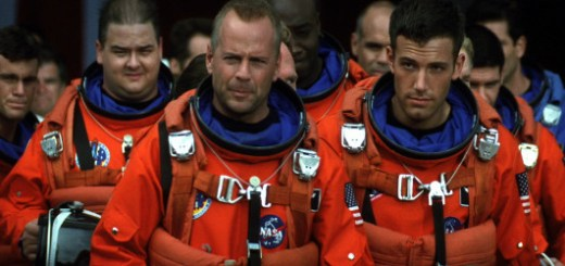 Bruce Willis and pals in Armageddon.