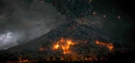 Vesuvius erupts in the trailer for Pompeii.