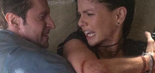 Richard Armitage and Sarah Wayne Callies in Into the Storm.