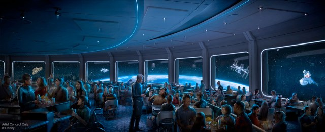 Space 220. the brand new Space-themed restaurant, coming to epcot in 2019.