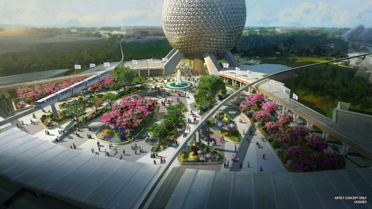 artist concept brand new entrance at Epcot