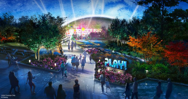 PLAY! Pavilion, coming to Epcot as a part of the massive reimagining.