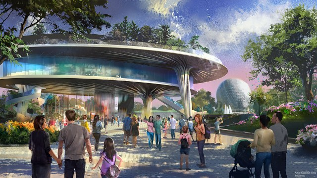 Brand new Festival Pavilion, coming to Epcot as a part of the massive reimagining.