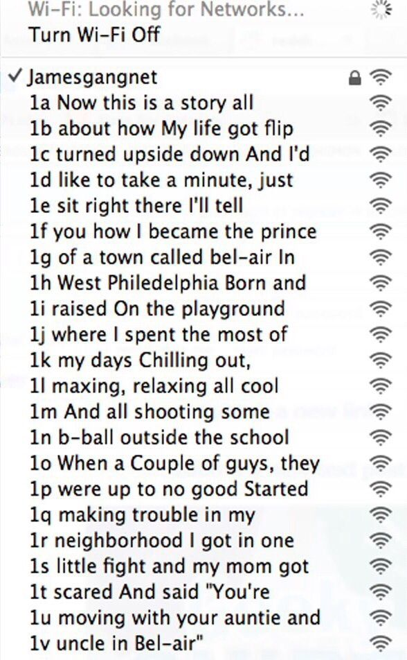 29 Wi Fi Network Names That Deserve To Be Admired
