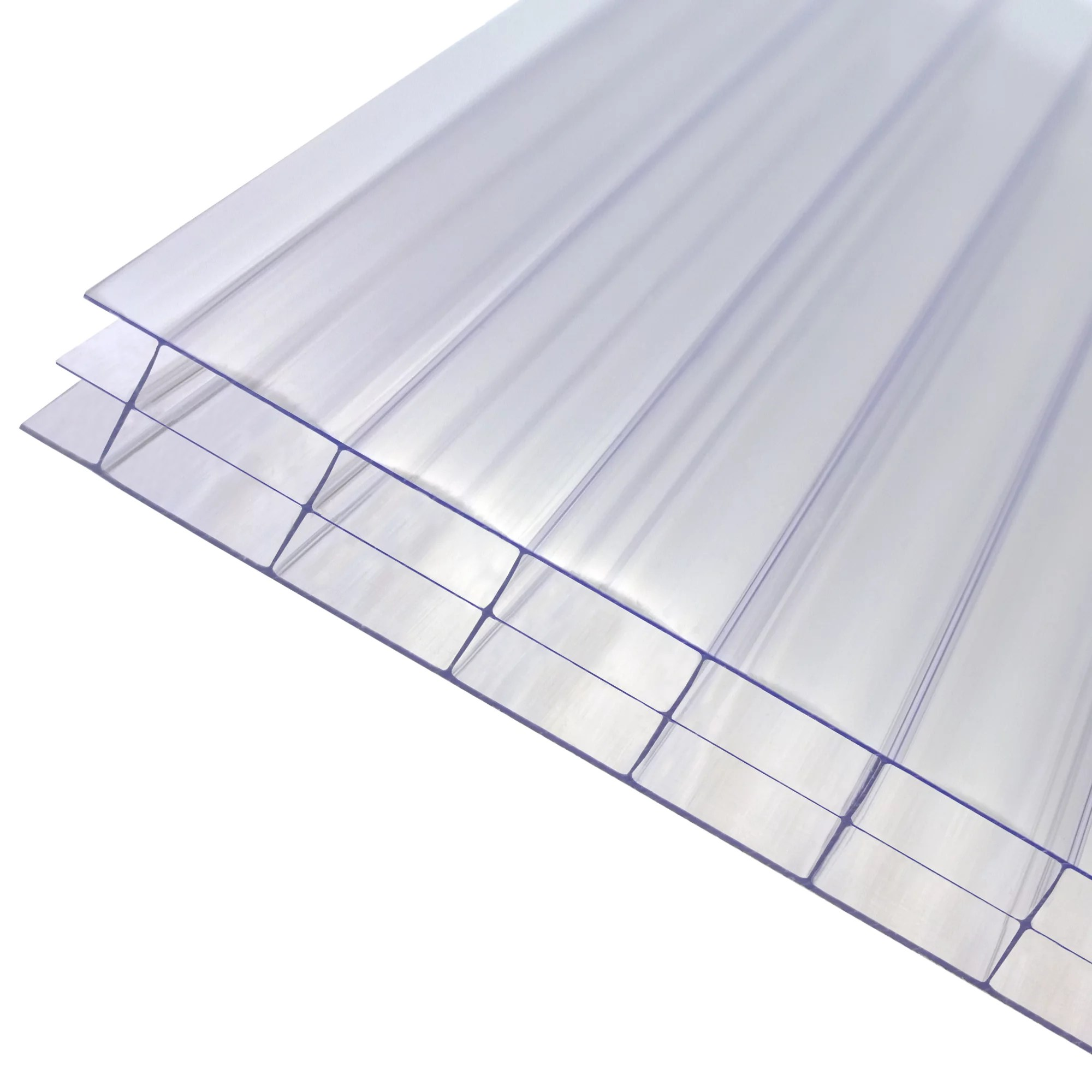 axiome clear polycarbonate multiwall roofing sheet l 3m w 1000mm t 16mm