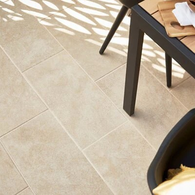 burgundy beige matt stone effect porcelain outdoor floor tile pack of 7 l 600mm w 300mm