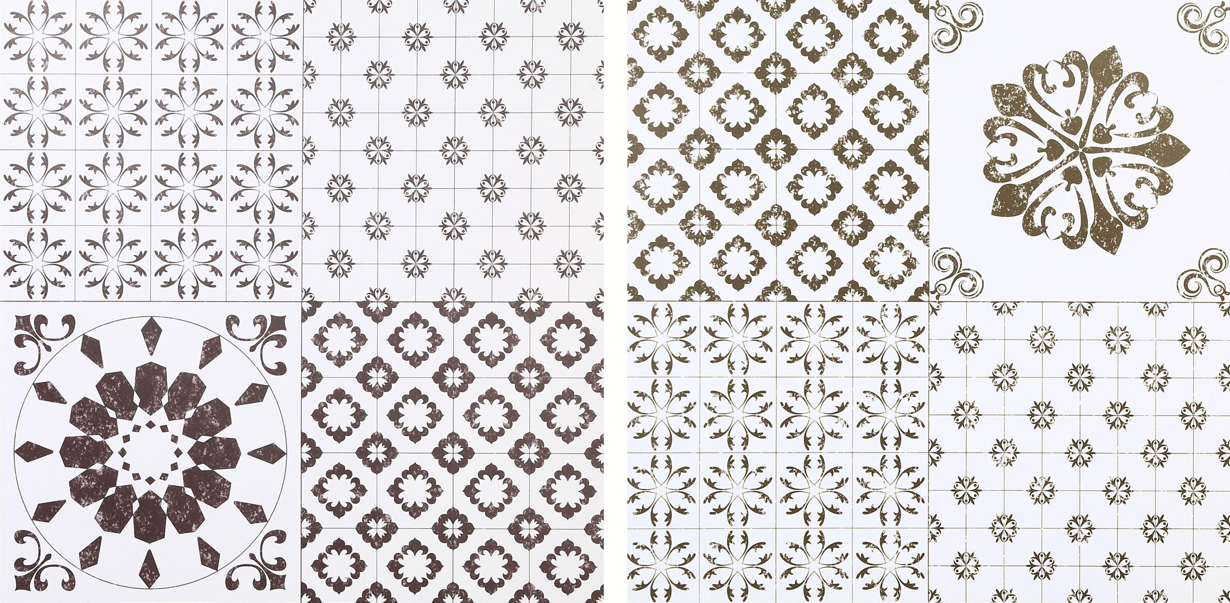 colours black white patchwork effect self adhesive vinyl tile 1 02m pack