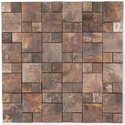 copper rust ceramic metal mosaic tile l 300mm w 300mm