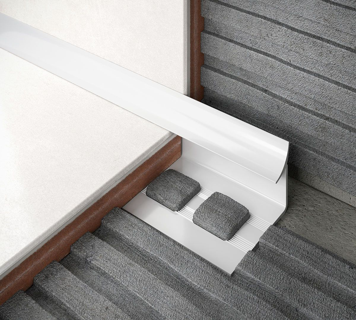 diall white pvc round tiling trim 6mm