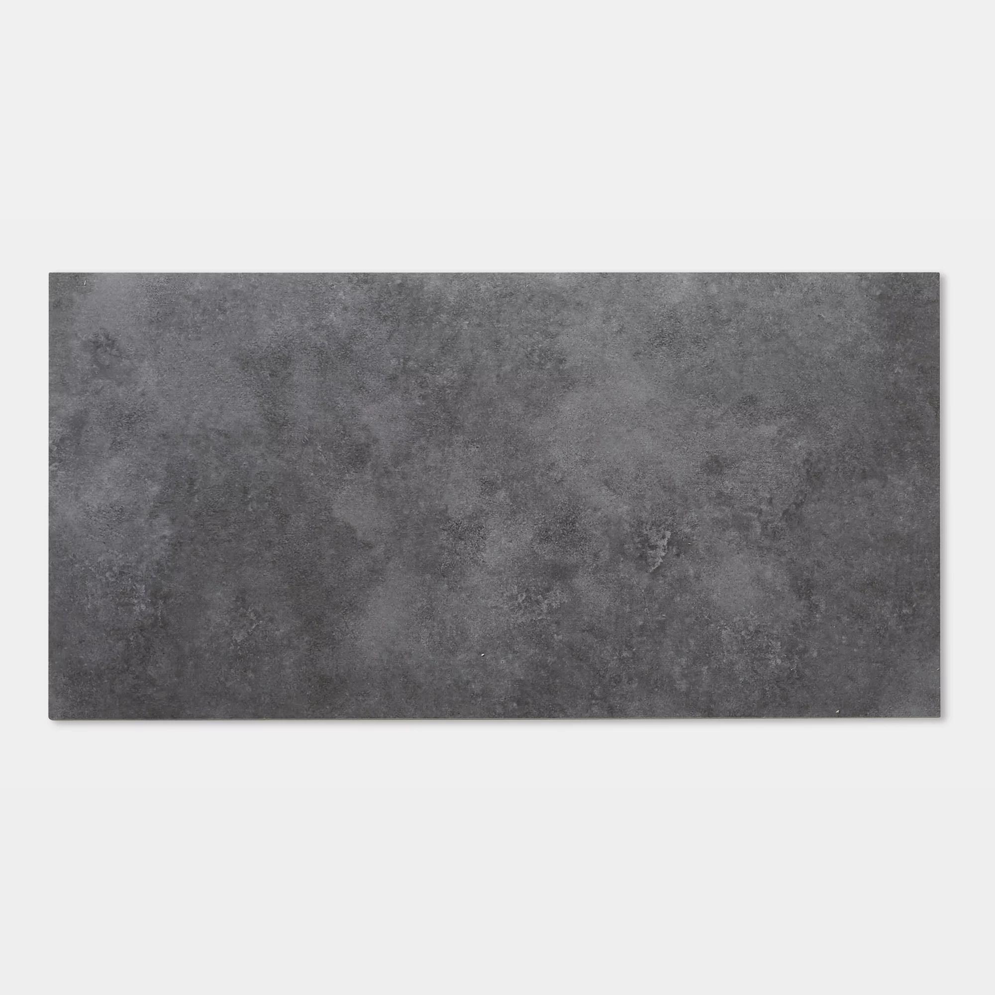 goodhome poprock dark grey tile stone effect self adhesive vinyl tile pack of 7