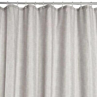 grey textured shower curtain l 2000mm