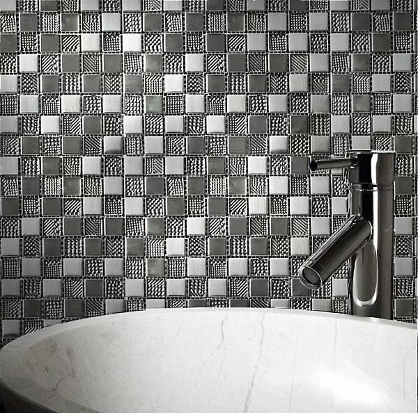 hammerfest white glass mosaic tile sheets l 300mm w 300mm