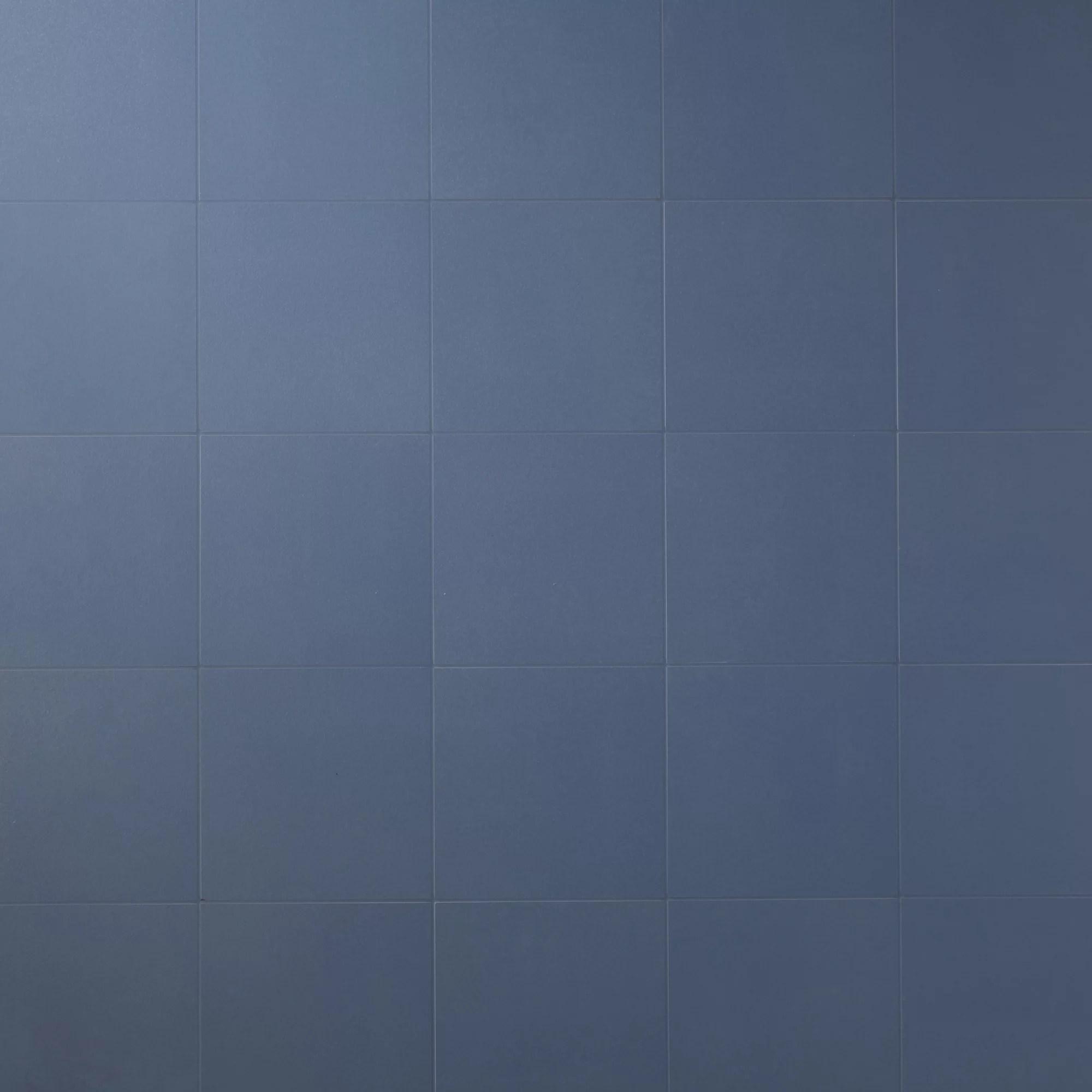 hydrolic marine blue matt porcelain floor tile pack of 25 l 200mm w 200mm