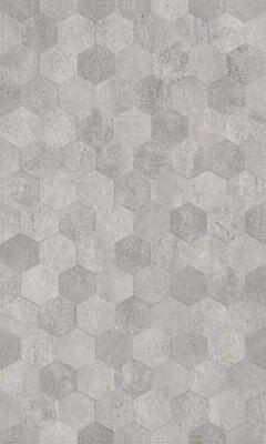 lofthouse hex steel matt 3d concrete effect ceramic wall tile pack of 6 l 498mm w 298mm