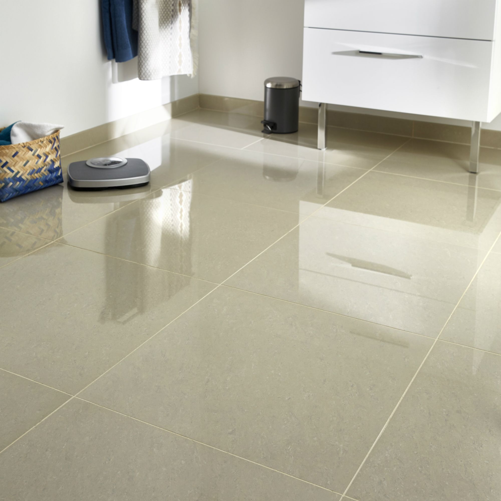 modenia beige travertine effect porcelain floor tile pack of 3 l 600mm w 600mm
