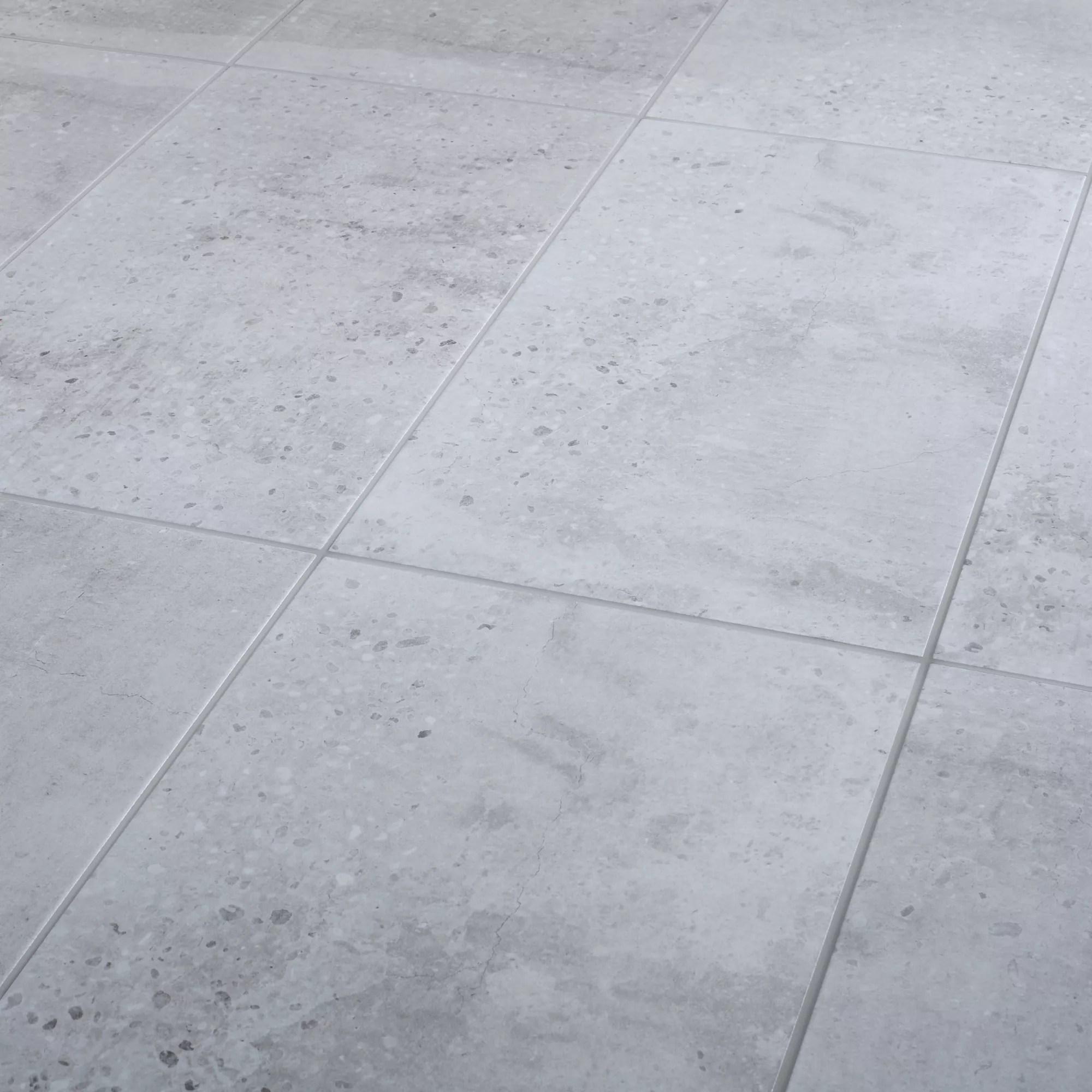 reclaimed grey matt concrete effect porcelain floor tile pack of 6 l 600mm w 300mm