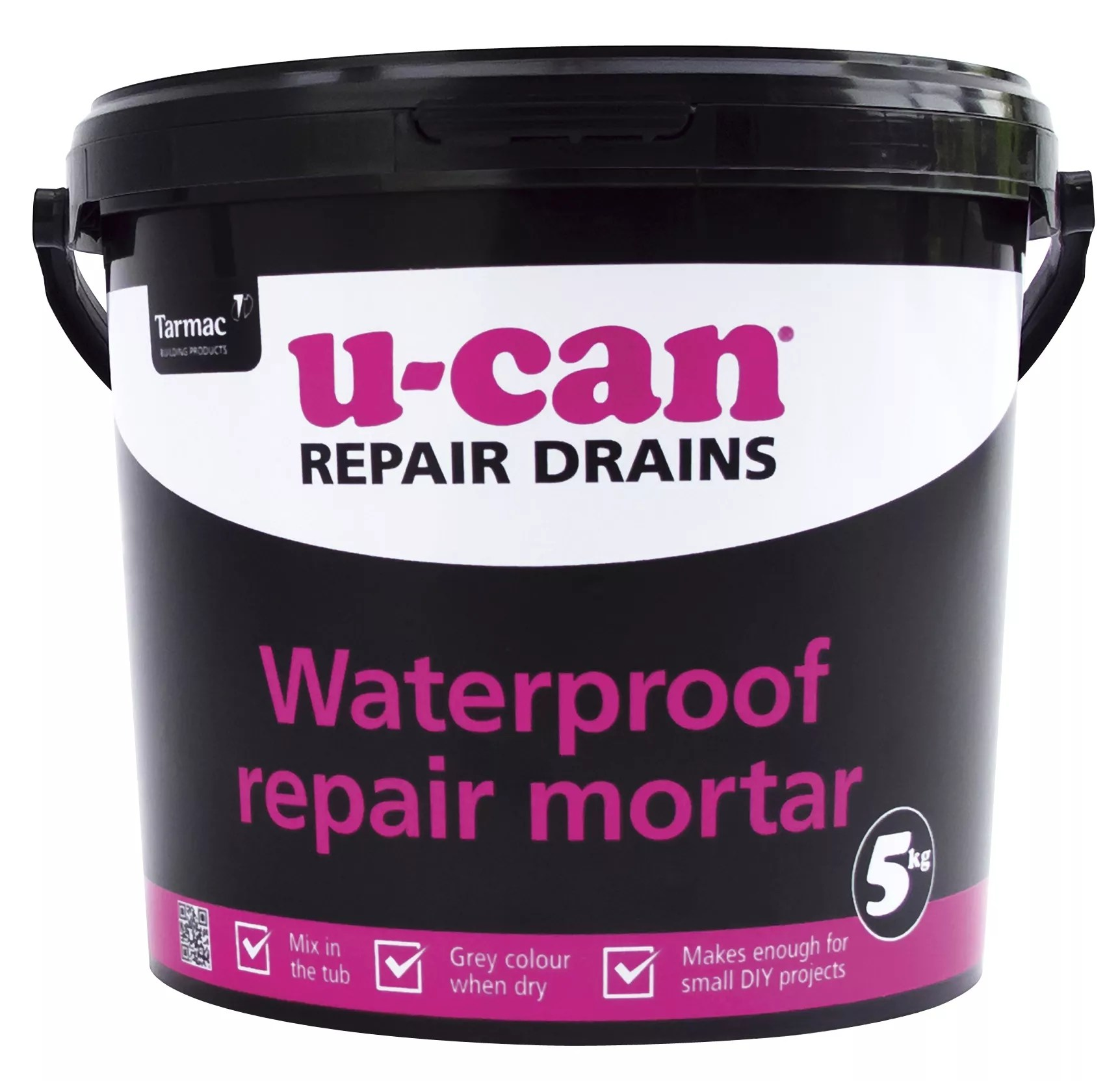 u can waterproof repair mortar 5kg tub