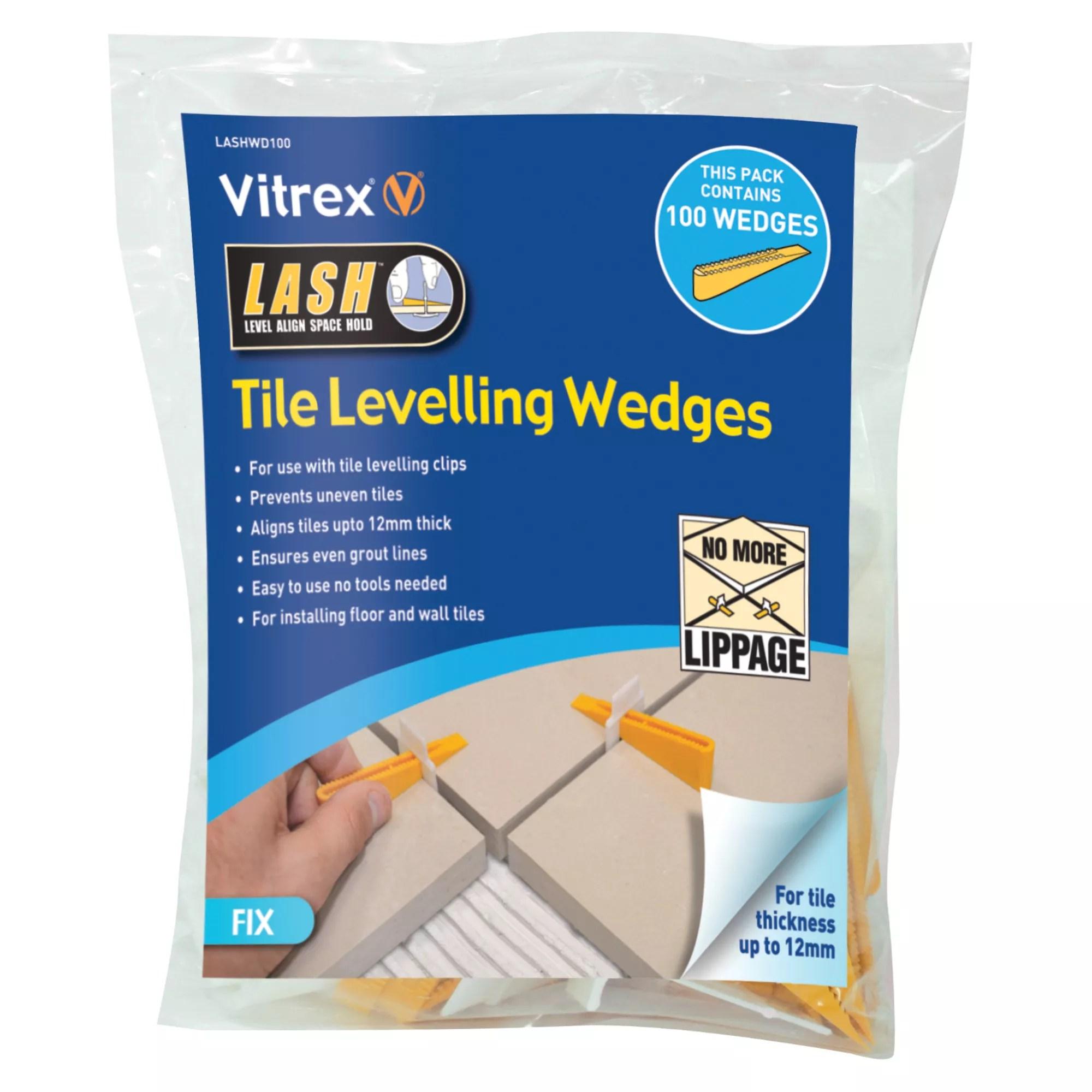 vitrex lashwd100 plastic 155mm tile levelling spacer pack of 100