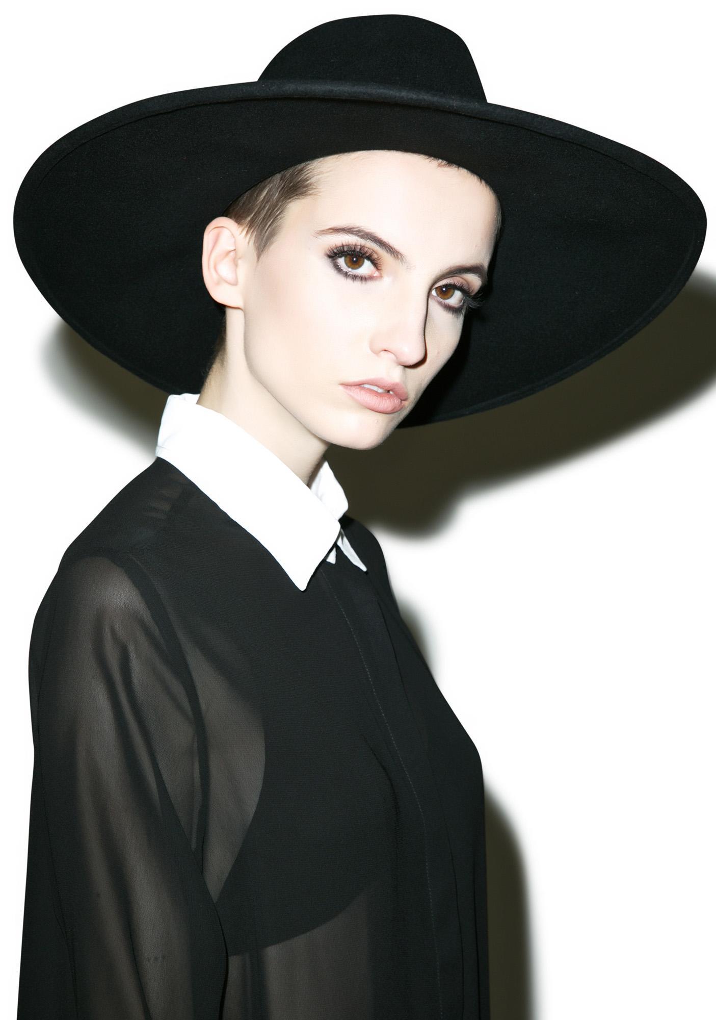 Killstar Witch Brim Hat Dolls Kill