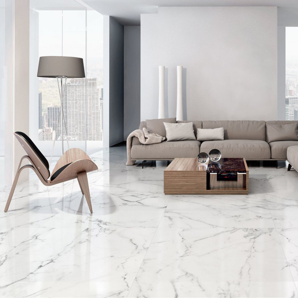 itt ceramic tile aral white shiny