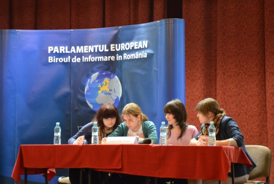 Echipa Colegiul National Ion Creanga - Concursul Liceul European al Anului (1)