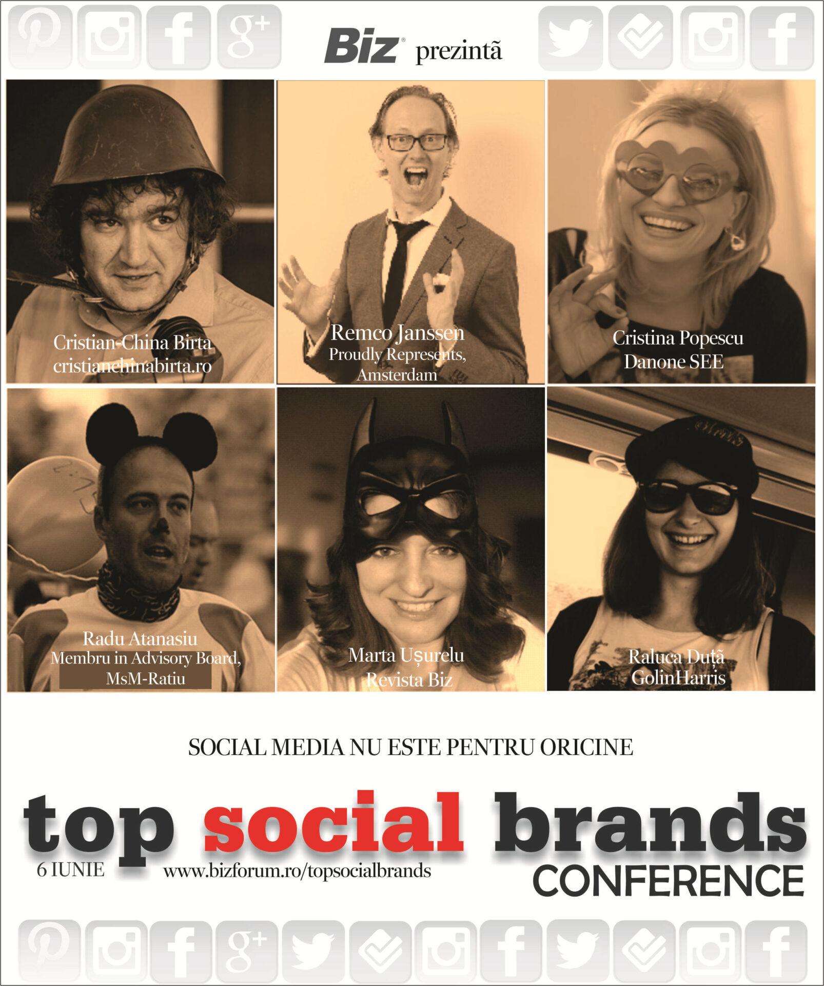 Top Social Brands 2014