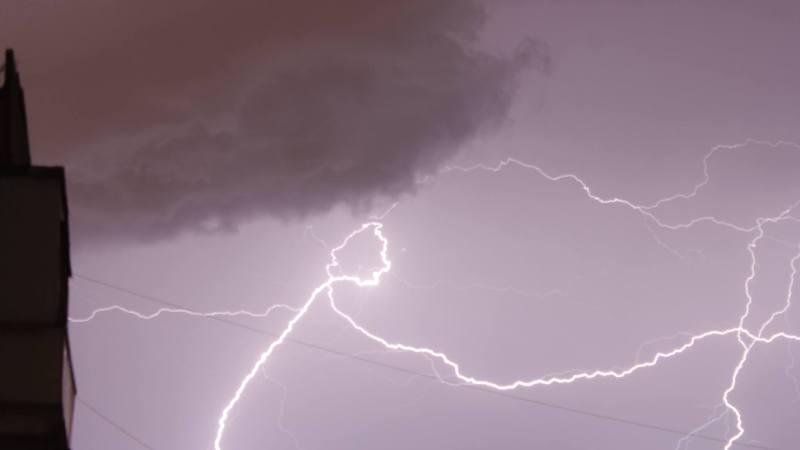 Fulgere in Bucuresti