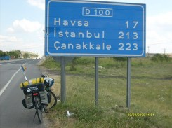 bicicleta langa indicator