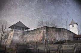 Manastirea Strehaia zid exterior