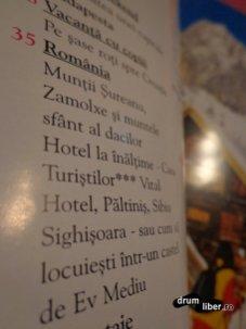 Din cuprinsul revistei: România