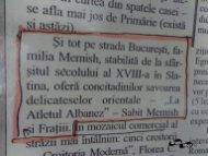 Selecție într-un ziar vechi