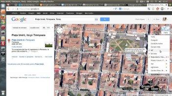 Google Maps 45 grade meniul