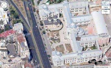 Google Maps 45 grade București - Spitalul Colțea
