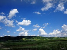 Peisaj din drumul spre Pâclele Mari