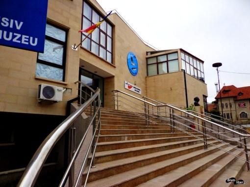 Intrarea în muzeul Deltei Dunării