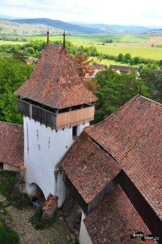 Biserica fortificată din Viscri - vedere din turnul bisericii