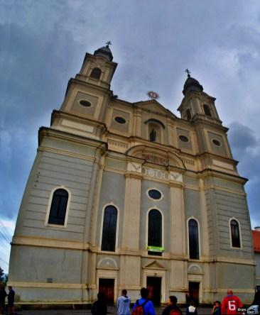 Panoramică la Biserica Franciscană din Șumuleu Ciuc