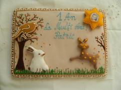 Operă de artă din turtă dulce - La mulți ani!