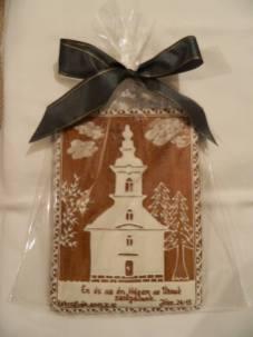 Operă de artă din turtă dulce - biserică