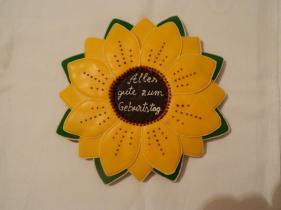 Operă de artă din turtă dulce - floare