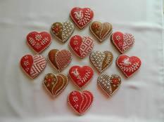 Operă de artă din turtă dulce - Inimioare